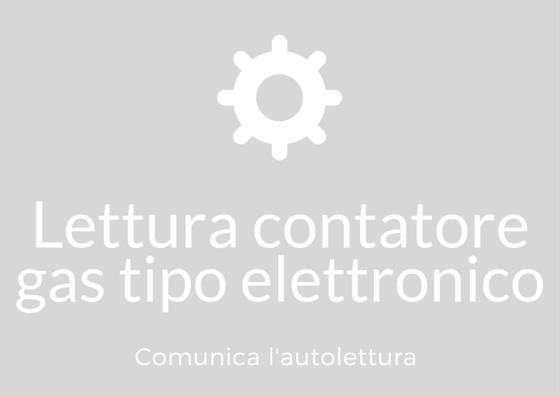lettura contatori a gas di tipo elettronico
